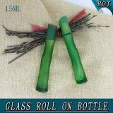 15ml de bambú verde forma de suero de aceite esencial rollo de vidrio en la botella