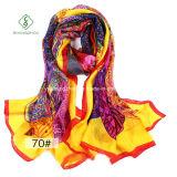 Hot vendre Lady Fashion 100 % Foulard en Soie avec fleur imprimé