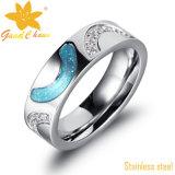 Exsr82e Fashion Shell Finger Mens Rings