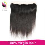Cheveux réels Cheveux rénaux Cheveux bruns en dentelle Fermeture frontale