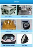 Llevar la mesa de metal maquinaria Etiching marcadora láser de fibra metaloide