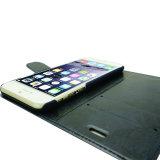 Accessoire en cuir de téléphone mobile de l'iPhone 7 de slot pour carte de caisse de téléphone
