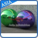 Sfera commerciale gonfiabile, aerostato gonfiabile decorativo dello specchio, sfera gonfiabile dello specchio dello specchio