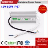 Alimentazione elettrica impermeabile costante di commutazione di tensione 12V 80W LED IP67