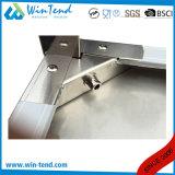 Tabella di funzionamento robusta di rinforzo mensola rotonda della costruzione del tubo dell'acciaio inossidabile con lo strato di memoria con il piedino registrabile di altezza da vendere