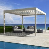 Aluminum Pergola with Louvered Roof Waterproof Sun Shade