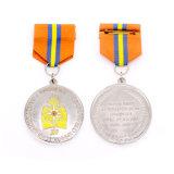 Personalizzato timbrare il distintivo militare d'argento di onore cita lo schermo Tissus di formato