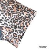 Alineada de lino del leopardo de las mujeres del precio bajo de Srta. You Ailinna 801149 del cortocircuito ocasional de la impresión