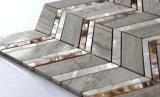Shell de agua dulce y mosaico de mármol gris