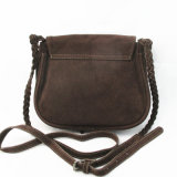 Trendy Cow Split Leather Cross Body Fringe Bag