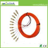 Manutenção programada milímetro APC do cabo de correção de programa da fibra óptica do Pigtail da fibra óptica