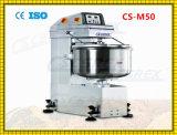 25kg mezclador de pasta fijo inoxidable del tazón de fuente del espiral del suelo de acero de la pasta de la harina 50kg