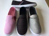 男女兼用のズック靴の女性の人の原因の靴ファブリックPVC靴