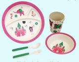 La fibre en bambou respectueuse de l'environnement badine les jeux de vaisselle (YK-BS1005)
