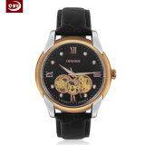 カスタマイズされた水晶ステンレス鋼の男性用腕時計