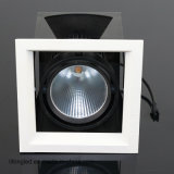 Black Design recesso COB 18W LED Grille luzes Downlight com Ce RoHS