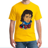 """China homens """" T-shirts de algodão com impressões de transferência de cores"""