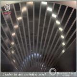 201 304 ont gravé à l'eau-forte le plat d'acier inoxydable pour des décorations