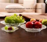 최신 인기 상품 둥근 유리제 과일 격판덮개 또는 유리 접시 또는 훈장 격판덮개
