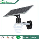 Supergreen China Fabricante IP65 LED Solar Outdoor Light com Ce