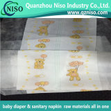 Feuchtigkeit-Anzeiger gedrucktes GewebeBacksheet nichtgewebtes Gewebe für Baby-Windeln