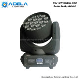 Zoom 19X12W Lumière de lavage de tête de tête à LED