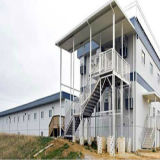 Быстрая собирая полуфабрикат дом стальной структуры передвижная с аттестацией Ce