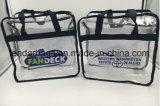 Карманн в передней прозрачной сумке застежки -молнии PVC