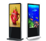 直角と立つプレーヤーの床デジタル表示装置の表記を広告する55inch LCD