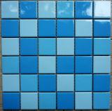 De blauwe Ceramische Tegel van het Mozaïek voor de Badkamers van het Zwembad