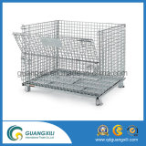 Warehouse Wire Mesh Folding Storage Metal Cage