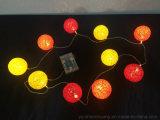 Baumwollkugel-Zeichenkette-Lichter für die Dekoration 10LEDs batteriebetrieben