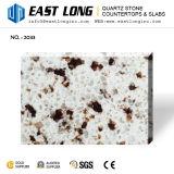Zurechtgeschnittener Granit-Farben-künstlicher Quarz-Stein mit freien Proben