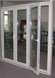 صنع وفقا لطلب الزّبون حراريّة كسر ألومنيوم شباك باب زجاجيّة مع سعر [إإكس-فكتوري] ([أكد-002])