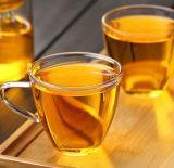 150ml 커피 접시 차잔을%s 가진 유리제 컵 차 유리