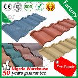 広Zhouの製造業者の自然な砂の石の上塗を施してある金属の屋根瓦