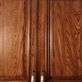 Первоклассная кухня твердой древесины напольная с самомоднейшей штангой (zq-007)