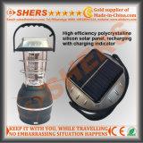 Solar LED linterna que acampa de la linterna LED de 1W 48 Enchufe USB