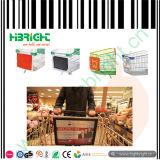 Einkaufen-Laufkatze, die Bildschirmanzeige-Rahmen-Schaukasten bekanntmacht
