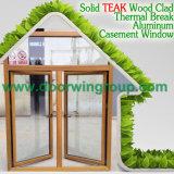 Окно окна Casement деревянного цвета алюминиевое, европейских & американских Casement типа алюминиевое деревянное