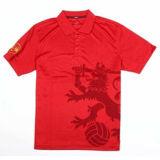Het Katoen van de manier/het Polyester Afgedrukte Overhemd van het Polo van het Golf (P025)