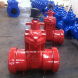 Awwa C509 / C515 Válvulas de portas assentadas resilientes Tira não levantável Empurre em extremidades 200 / 250psi
