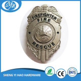 Mão da liga do zinco do emblema do metal de Custimized - emblema feito da polícia