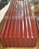 Feuille de toit PPGI en carton ondulé / plaque de toit en acier Galvanzied prépainée