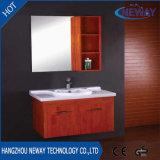 Salle de bains en bois mural simple avec le côté du Cabinet Le Cabinet