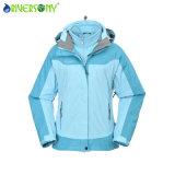 Зима 3 в 1 куртке лыжи женщин куртки с клобуком