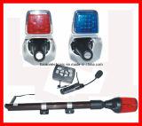 Luz do estroboscópio da motocicleta da polícia & altofalante da sirene