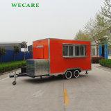 주황색 색깔 판매를 위한 이동할 수 있는 음식 트럭