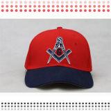Cappelli rossi di abitudine del cappello di Snapback del ricamo