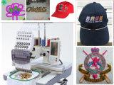 모자, t-셔츠 및 편평한 자수를 위한 상업적인 단 하나 맨 위 자수 기계
